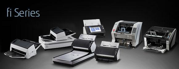 7 różnych wielkości i budowy skanerów Fujitsu