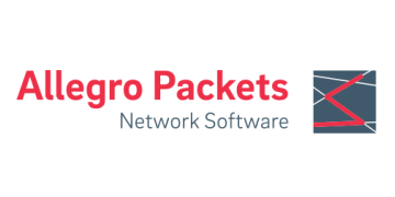 Alstor SDS logo Allegro Packets z grafiką i napisem Network Software