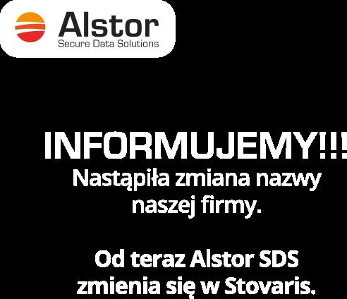 Alstor SDS informuje ze zmienia nazwe na Stovaris
