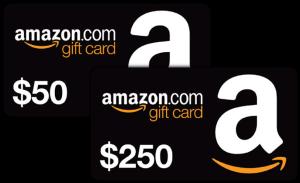 Amazon karty podarunkowe - 50-250 USD