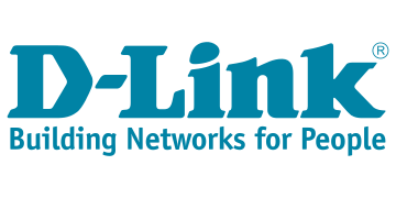 Green logo of D-Link