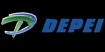 Alstor SDS logotyp firmy DEPEI w kolorze niebiesko-zielonym