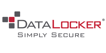 Alstor SDS grey and red DataLocker logo with Simply secure