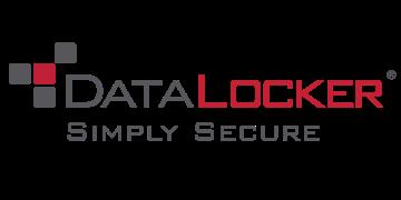 Alstor SDS szaro-czerwone logo DataLocker z napisem Simply secure