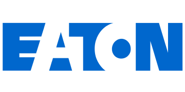 Alstor SDS EATON logotype in blue on a transparent background