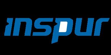 Alstor SDS logo Inspur, napisy w kolorze niebieskim