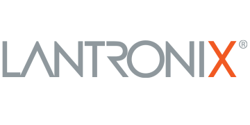 Alstor SDS LANTRONIX logo, lettering in grey, the letter X is highlighted in orange