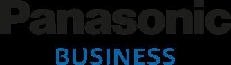 Logotyp czarno niebieski Panasonic Business
