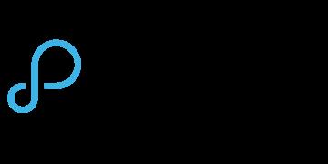 Alstor SDS logo z nazwą firmy PROMISE TECHNOLOGY w kolorze czarnym, z lewej strony znajduje się niebieski element graficzny przypominający symbol nieskończoności