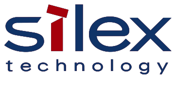 Alstor SDS company logo silex technology, blue letters, letter I is red