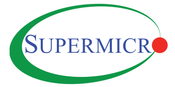 Alstor SDS Supermicro logo, blue company inscription, the letter O is a red circle. Inscription inscribed in a green ellipse.
