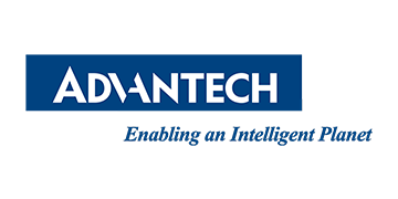 Alstor SDS logo Advantech białe na niebieskim tle z namisem Enabling an Intelligent Planet