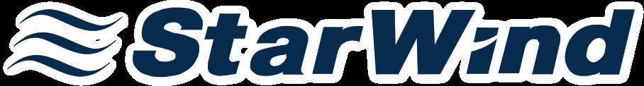logotyp StarWind z białą poświatą